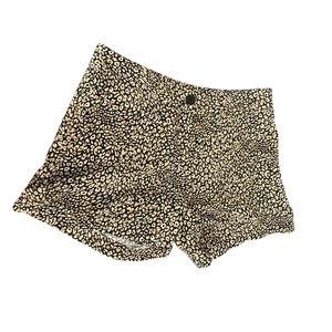 Madison Womens Animal Print Shorts 100% Linen Sz 4